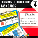 Decimals Task Cards 4th Grade Math Centers