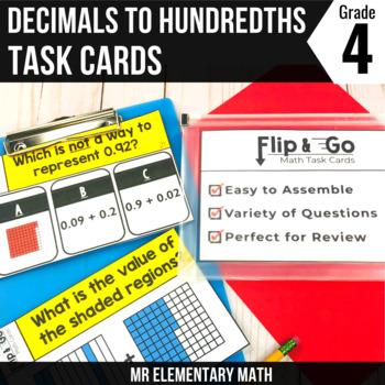Decimals - 4th Grade Math Flip and Go Cards
