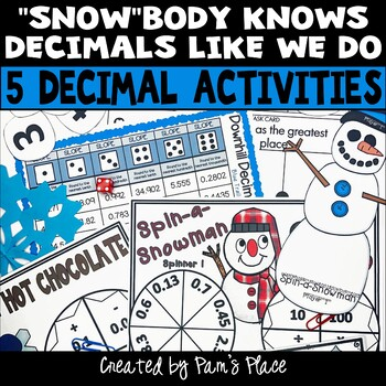 Decimal Activities Winter Theme