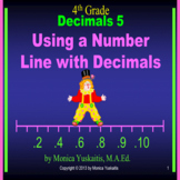 Common Core 4th - Decimals 5 - Using a Number Line with Decimals