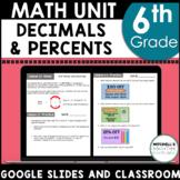 6th Grade Math Decimals Curriculum Unit 5 Using Google