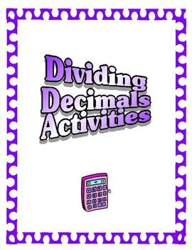 Decimals Activities - Dividing Decimals