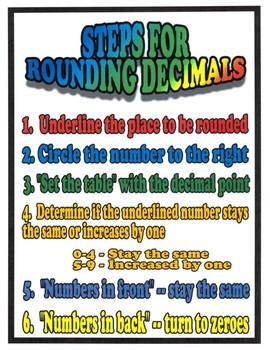 Decimals Activities - Rounding and Comparing Decimals