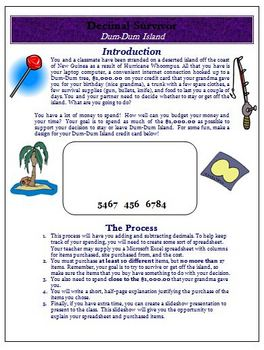 Decimals Activities Worksheets for Grades 4 5 and 6