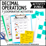 6th Grade Decimal Operations Activity Bundle
