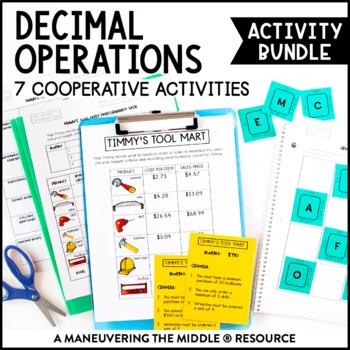 6th Grade Decimal Operations Activity Bundle