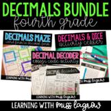 Decimals Activity and Center Bundle for Fourth Grade