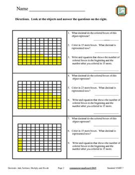 Decimals - Add, Subtract, Multiply, Divide - 5.NBT.7