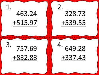 Decimals:  Add and Subtract Large Numbers with Decimals