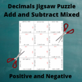 Add and Subtract Decimals Puzzle : Positive and Negative Answers