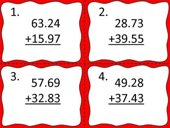 Decimals:  Add and Subtract Small Numbers with Decimals