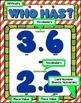 Decimals: Adding & Subtracting Decimals Game: I Have Who Has?