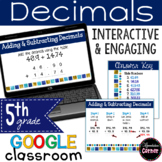Decimals: Adding and Subtracting Distance Learning