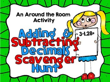 Decimals-Adding and Subtracting-Looping Scavenger Hunt