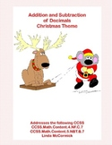 Decimals-Adding and Subtracting Tenths & Hundredths- Christmas Theme
