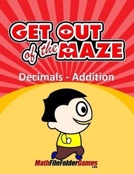 Decimals - Fun Addition Worksheets/Mazes (MINI BUNDLE)