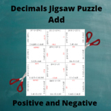 Add Decimals : Addition Puzzle with Positive and Negative Answers