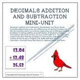 Decimals Addition and Subtraction Mini-Unit to Thousandths