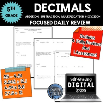 Decimals - All Operations - Focused Daily Review - 5th Grade