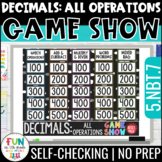 Decimals: All Operations Game Show PowerPoint Review Game