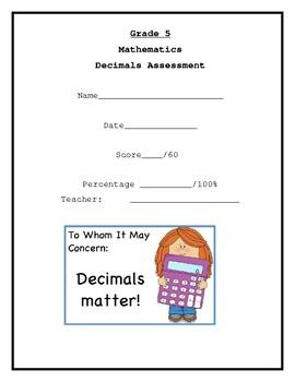 Decimals Assessment