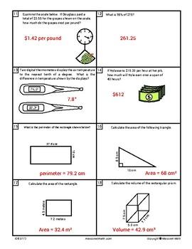 Decimals Assessments