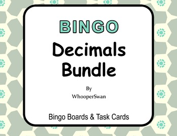 Decimals - BINGO and Task Cards Bundle