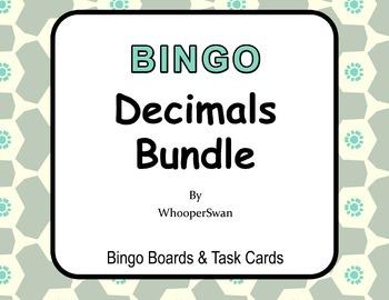 Decimals - BINGO and Task Cards Bundle