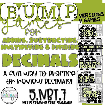 Decimals BUMP Game // Add, Subtract, Multiply and Divide Decimals