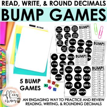 Decimals BUMP Game // Read, Write, and Round Decimals
