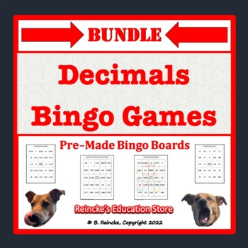 Decimals Bingo Bundle (5 pre-made games!)