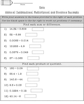 Decimals Bundle