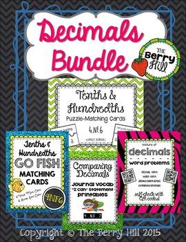 Decimals Bundle - Tenths and Hundredths - 4NF6, 4NF7