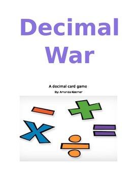 Decimals Card game