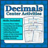 Decimals Center Activities