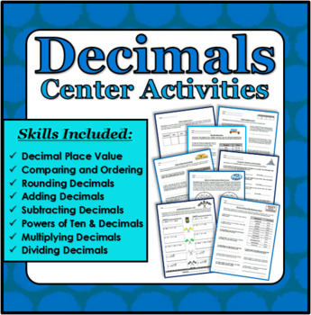 Decimals Center Activities