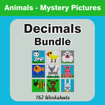 Decimals - Color-By-Number Mystery Pictures Bundle