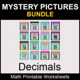 Decimals - Color by Number - Math Mystery Pictures - BUNDLE