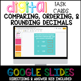 Decimals - Comparing, Ordering, Rounding Google Digital Task Cards
