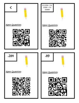 Decimals Comparing/Place Value QR Code Scavenger Hunt - Fifth Grade - 5.NBT.A.3