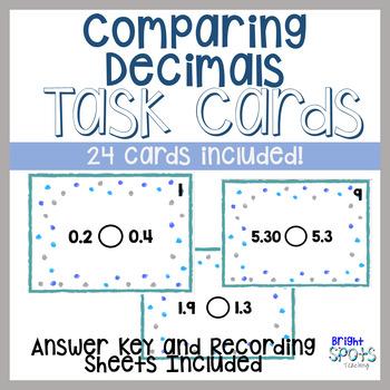 Decimals Comparison Task Cards