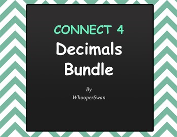 Decimals - Connect 4 Game Bundle
