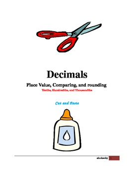 Decimals - Cut and Paste