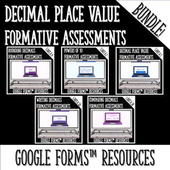 Decimals DIGITAL TASK CARDS BUNDLE for Google Classroom