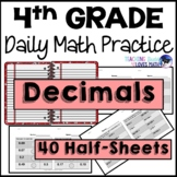 Decimals Daily Math Review 4th Grade Bell Ringers Warm Ups
