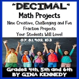 Decimal Projects, Math Enrichment for Upper Elementary, Vocabulary Handout