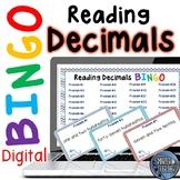 Reading Decimals Digital Bingo