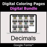 Decimals - Digital Coloring Pages Bundle | Google Forms