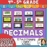 Decimals Distance Learning 4th - 5th grade - 12 Digital Ac
