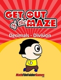 Fun Decimals Division Worksheets/Mazes (MINI BUNDLE)